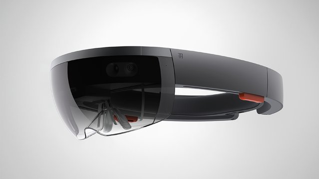 The Microsoft HoloLens is shown in this publicity photo released to Reuters January 21, 2015. Microsoft Corp on Wednesday unveiled the holographic lens device that allows users to see three-dimensional renderings of computer-generated images. The device has no wires and looks like a visor. It ups the stakes in the emerging market for virtual reality, being targeted by Facebook Inc's Oculus. (Photo by Reuters/Microsoft Corp.)