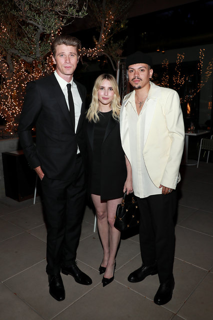 (L-R) Garrett Hedlund, Emma Roberts and Evan Ross attend Spring Place's Oscars party honoring Andra Day and the cast of The United States vs. Billie Holiday on April 25, 2021 in Beverly Hills, California. (Photo by Jerritt Clark/Getty Images for Bassline Management)
