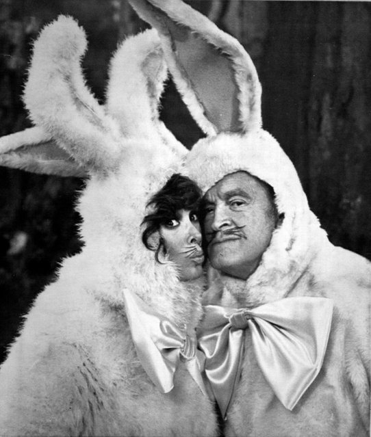 "April 8, 1981 Bob Hope and Jill St. John, as ""Mr. and Mrs. Easter Bunny"", search the forest for Easter eggs in skit on ""Bob Hope's Spring Fling of Glamour and Comedy"". (Photo by  AP Wirephoto)"