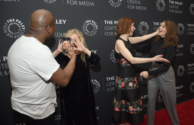 """Titus Burgess, Carol Kane, Ellie Kemper and Tina Fey attend Kimmy Goes To The Paley Center: A Celebration Of """"Unbreakable Kimmy Schmidt"""" at Paley Center For Media on January 24, 2019 in New York City. (Photo by Dimitrios Kambouris/Getty Images)"""