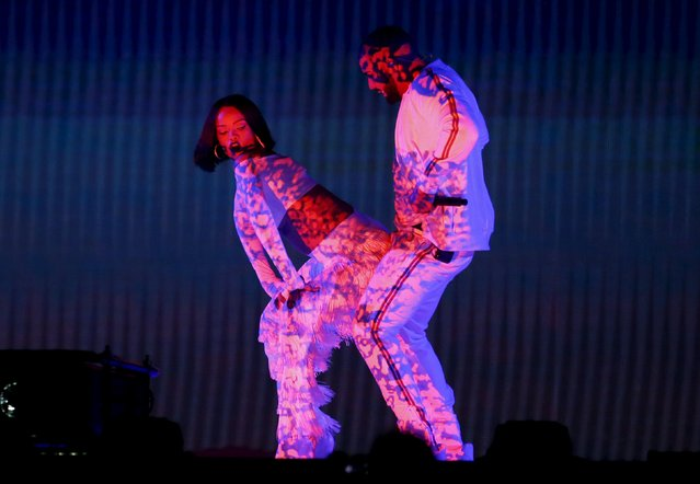Rihanna and Drake perform at the BRIT Awards at the O2 arena in London, Britain, February 24, 2016. (Photo by Stefan Wermuth/Reuters)