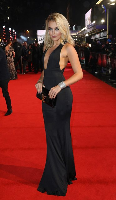 "Tallia Storm attends the UK Premiere of ""Fifty Shades Darker"" at Odeon Leicester Square on February 9, 2017 in London, United Kingdom. (Photo by David M. Benett/Dave Benett/WireImage)"