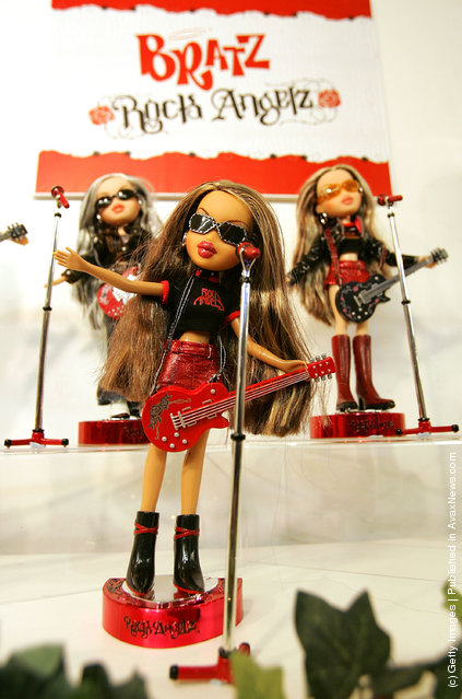 The Bratz Rock Angels are displayed at the Dream Toys 2005 Pre-Christmas Expo