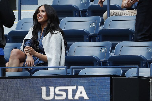 Meghan Markle, Duchess of Sussex watches Serena Williams of the US against Bianca Andreescu of Canada during the Women's Singles Finals match at the 2019 US Open at the USTA Billie Jean King National Tennis Center in New York on September 7, 2019. (Photo by Geoff Burke/USA TODAY Sports)