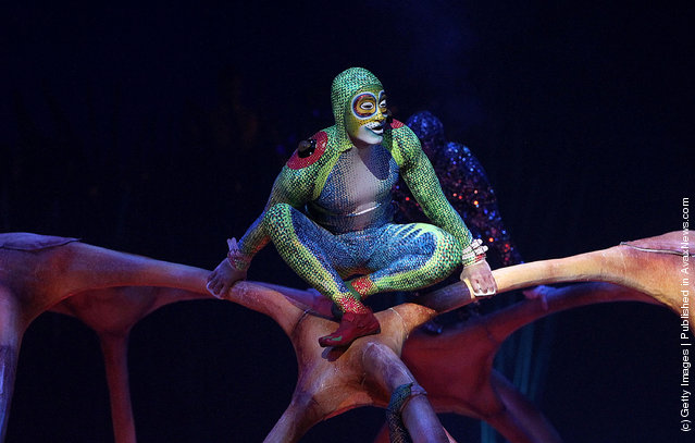 Artists from Cirque Du Soleil: Totem perform at Royal Albert Hall in London