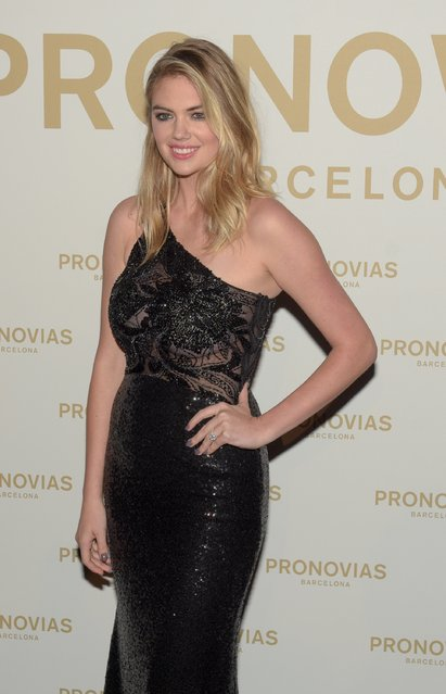 Kate Upton attends Pronovias Show during Barcelona Bridal Fashion Week 2017 held at the Museu Nacional d'Art de Catalunya on April 28, 2017 in Barcelona, Spain. (Photo by Robert Marquardt/Getty Images)