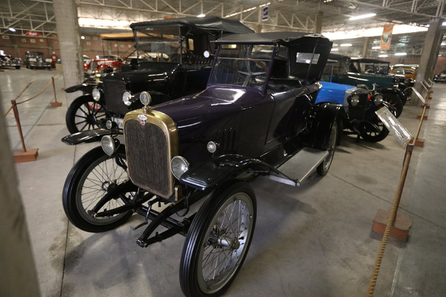 A Wanderer Tandem car is seen at the Nicolini Collection Car Museum in Lima, Peru June 1, 2017. (Photo by Guadalupe Pardo/Reuters)
