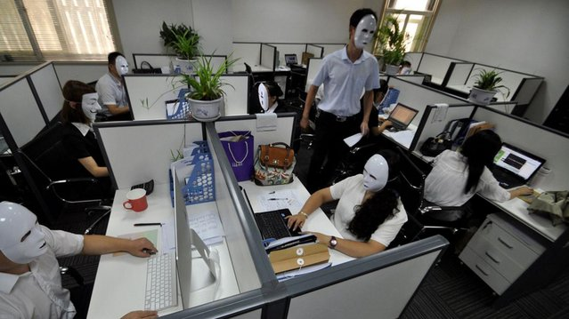 No Face Day In Chine