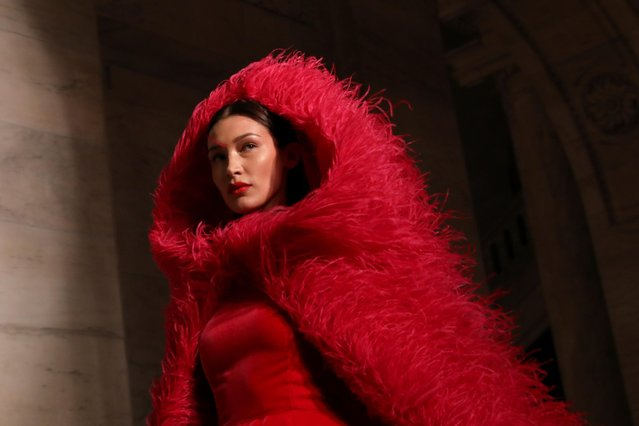 Model Bella Hadid presents a creation from the Oscar de la Renta Fall 2020 collection during New York Fashion Week in the Manhattan borough of New York, U.S., February 10, 2020. (Photo by Caitlin Ochs/Reuters)