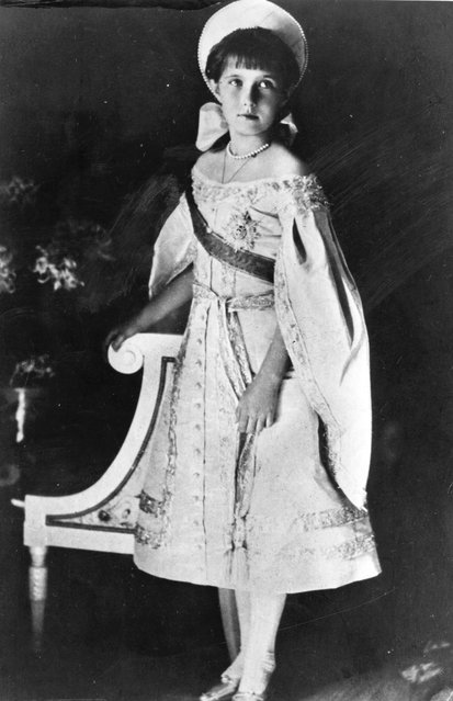 Grand Duchess Anastasia, (1901–1918), the youngest of the four daughters of Tsar Nicholas II, Emperor of Russia, circa 1914. (Photo by J. Windhager)