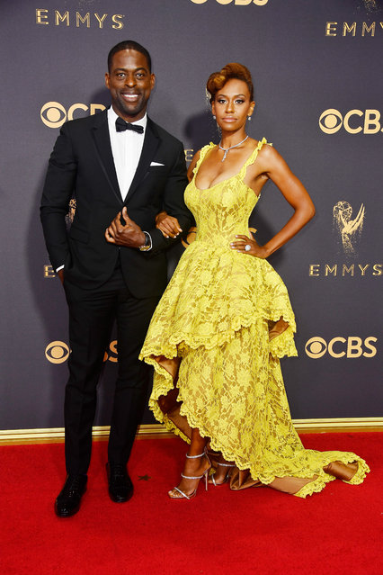 Sterling K. Brown (L) and Ryan Michelle Bathe attend the 69th Annual Primetime Emmy Awards at Microsoft Theater on September 17, 2017 in Los Angeles, California. (Photo by Frazer Harrison/Getty Images)