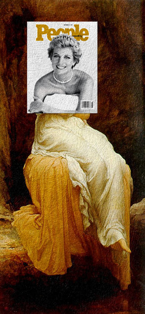 Quirky Magazine covers: Diana and Solitude. (Photo by Eisen Bernard Bernardo/Caters News)