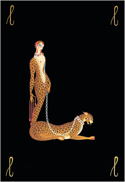 Romain de Tirtoff (Erte) – The Alphabet: Letter «L»