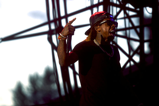 Lil Wayne performs from ColleGrove during the fifth annual Made in America Music Festival in Philadelphia, Pennsylvania September 3, 2016. (Photo by Mark Makela/Reuters)