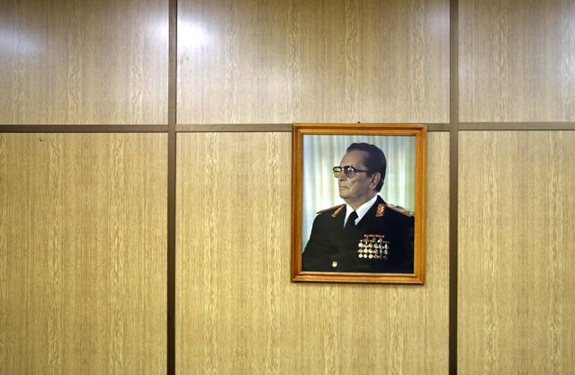 A portrait of Josip Broz Tito is seen in his underground secret bunker (ARK) in Konjic, October 16, 2014. (Photo by Dado Ruvic/Reuters)