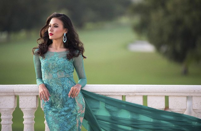Miss Myanmar 2014 Sharr Eaindra poses in her evening gown at the 63rd annual Miss Universe Pageant in Miami, Florida, in this January 5, 2015 handout photo provided by the Miss Universe Organization. (Photo by Reuters/Miss Universe Organization)