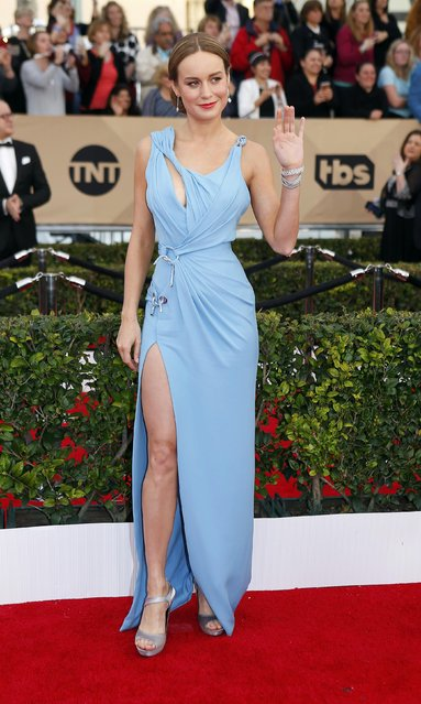Actress Brie Larson arrives at the 22nd Screen Actors Guild Awards in Los Angeles, California January 30, 2016. (Photo by Mike Blake/Reuters)