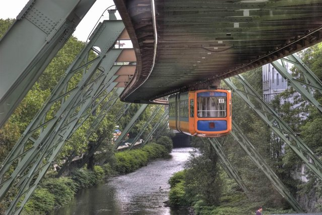 The Wuppertal Suspension Railway in Wuppertal, Germany