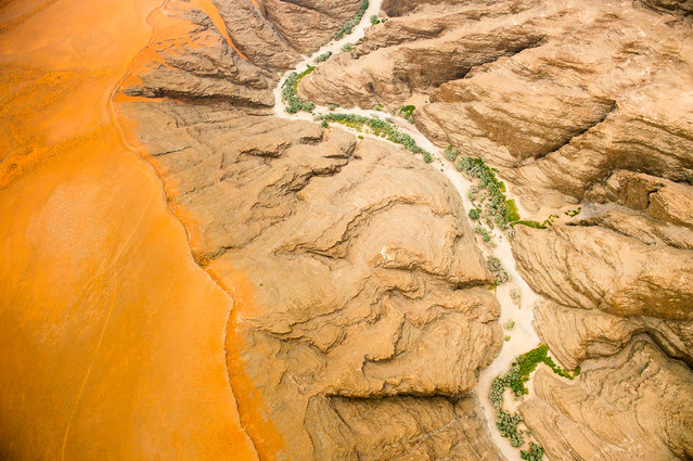 """Namib Desert, Namibia"". Aerial view of the Namib Desert, Namibia, Africa. Photo location: Namib Desert, Namibia. (Photo and caption by Chris Schmid/National Geographic Photo Contest)"