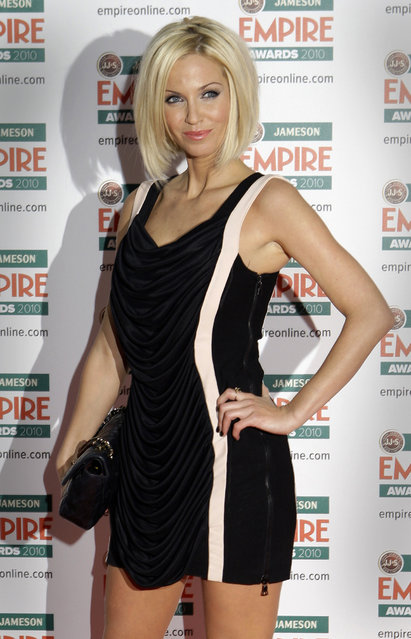 In this Sunday, March 28, 2010 file photo, British singer Sarah Harding arrives for the 2010 Empire Film Awards at a hotel in central London, United Kingdom. (Photo by Joel Ryan/AP Photo/File)