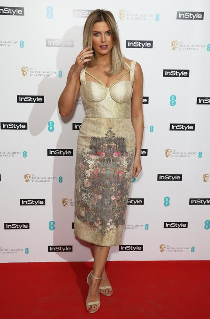 Ashley James attends the InStyle EE Rising Star Party ahead of the EE BAFTA Awards at The Ivy Soho Brasserie on February 1, 2017 in London, England. (Photo by James Gourley/SilverHub/Rex Features/Shutterstock)