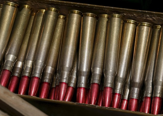 """Bullets are seen at a Ukrainian armed forces position near the town of Maryinka, eastern Ukraine, June 5, 2015. Ukraine's president told his military on Thursday to prepare for a possible """"full-scale invasion"""" by Russia all along their joint border, a day after the worst fighting with Russian-backed separatists in months.  REUTERS/Gleb Garanich"""