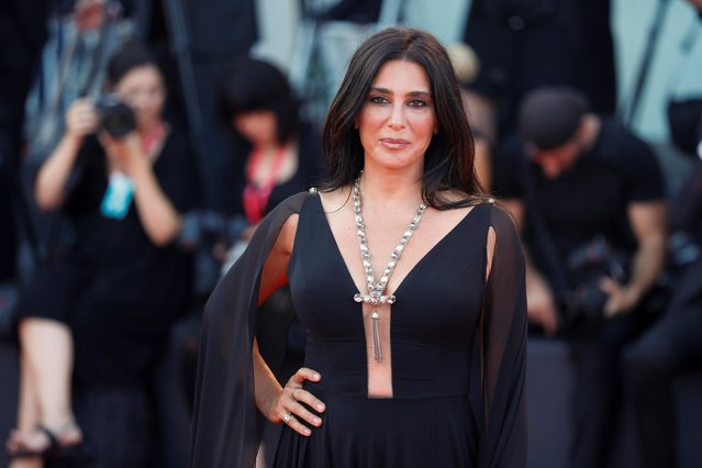 "Director Nadine Labaki poses on the red carpet for the screening of the film ""An Officer and a Spy"" during the 76th Venice Film Festival at Sala Grande on August 30, 2019 in Venice, Italy. (Photo by Yara Nardi/Reuters)"