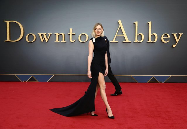 """Actor Laura Carmichael attends the world premiere of """"Downton Abbey"""" in London, Britain on September 9, 2019. (Photo by Simon Dawson/Reuters)"""