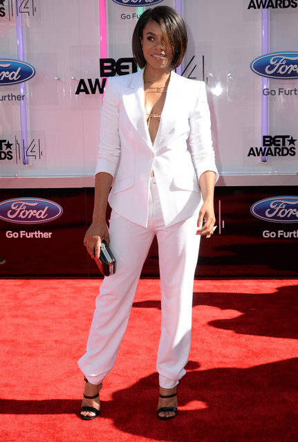 Actress Regina Hall attends the BET AWARDS '14 at Nokia Theatre L.A. LIVE on June 29, 2014 in Los Angeles, California. (Photo by Earl Gibson III/Getty Images for BET)
