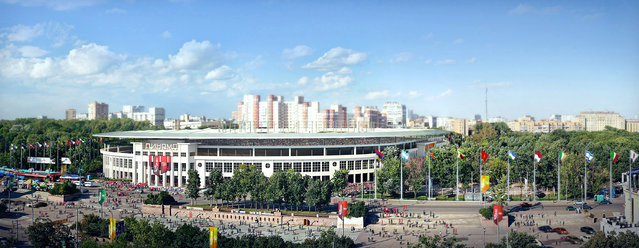 In this handout artists impression provided by the Russia 2018 Organising Commitee, the Dynamo Stadium in Moscow is shown as proposed and presented as part of the Russia 2018 World Cup bid, on September 29, 2011 in Russia. (Illustration by Russia 2018 via Getty Images)