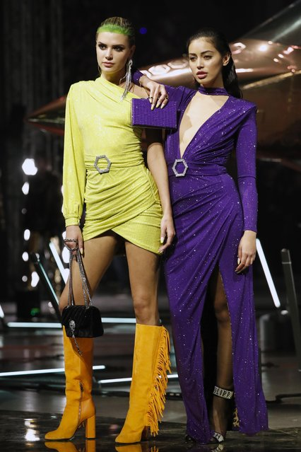 Models present creations from the Philipp Plein Autumn/Winter 2020 collection during Milan Fashion Week in Milan, Italy, February 22, 2020. (Photo by Alessandro Garofalo/Reuters)