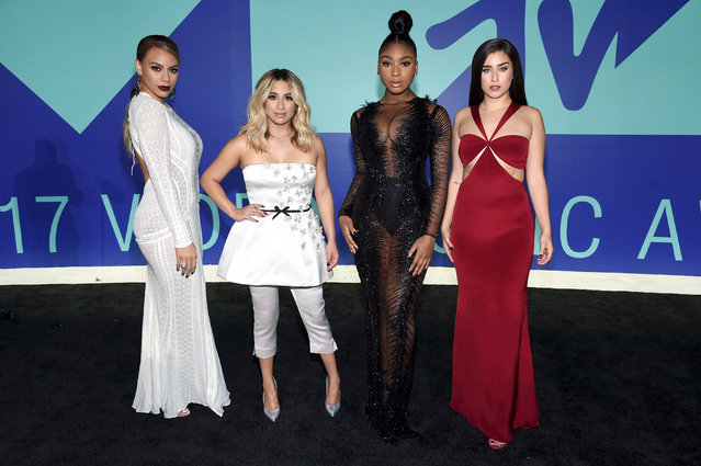 (L-R) Dinah Jane, Ally Brooke, Normani Kordei, and Lauren Jauregui of Fifth Harmony attend the 2017 MTV Video Music Awards at The Forum on August 27, 2017 in Inglewood, California. (Photo by John Shearer/Getty Images for MTV)