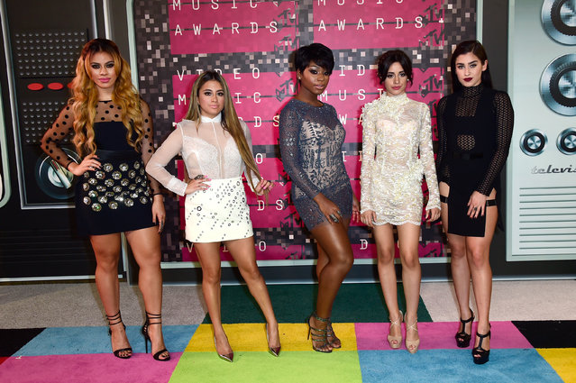 (L-R) Recording artists Dinah-Jane Hansen, Ally Brooke, Normani Hamilton, Camila Cabello and Lauren Jauregui of Fifth Harmony attend the 2015 MTV Video Music Awards at Microsoft Theater on August 30, 2015 in Los Angeles, California. (Photo by Frazer Harrison/Getty Images)