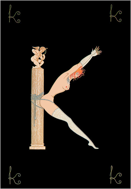 Romain de Tirtoff (Erte) – The Alphabet: Letter «K»