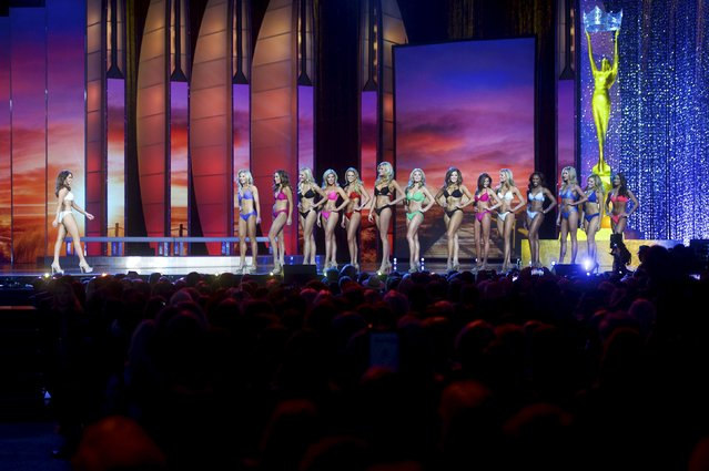 Miss America contestants compete in the swimsuit component of the pageant at Boardwalk Hall, in Atlantic City, New Jersey, September 13, 2015. Miss Georgia Betty Cantrell won. (Photo by Mark Makela/Reuters)