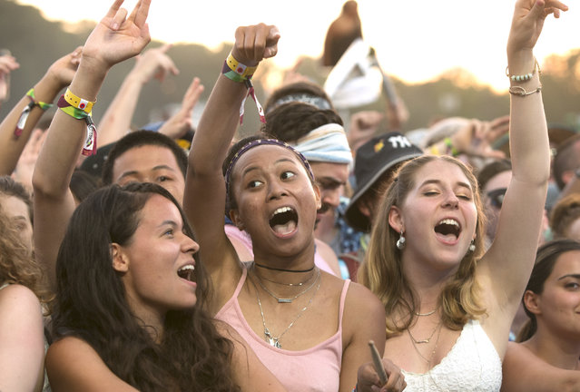 Festival goers enjoy Day 2 of the 2018 Firefly Music Festival at The Woodlands on Friday, June 15, 2018, in Dover, Del. (Photo by Owen Sweeney/Invision/AP Photo)