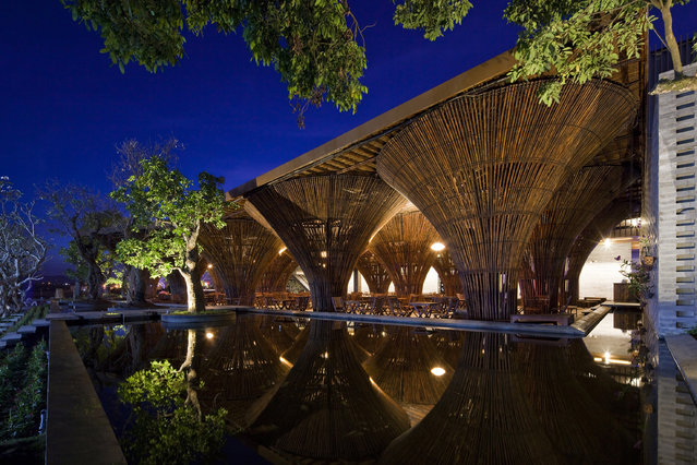 Undated handout photo issued by World Architecture Festival 2013 of the Kontum Indochine Cafe designed by Vo Trong Nghia Architects in Kontum City, Vietnam, which is among the nominees for the World Architecture Festival Awards 2013. (Photo by World Architecture Festival 2013/PA Wire)