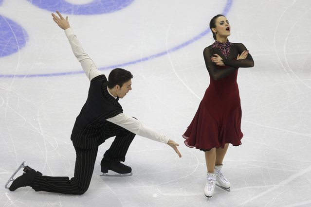 Federica Testa and Lukas Csolley of Slovakia perform during the ice dance short dance program at the ISU European Figure Skating Championship in Bratislava, Slovakia, January 28, 2016. (Photo by David W. Cerny/Reuters)