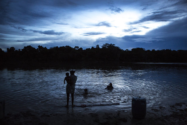 The Bacaja River is a tributary of the Xingu River, which is being dammed by the third-largest hydroelectric project in the world, the Belo Monte. As the dam quickly nears completion, the Xikrin have already seen a negative impact on fish populations, and scientists warn of a lowered water table that could dry out this area of the Bacaja. (Taylor Weidman)