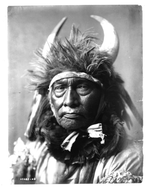 A portrait of a Crow warrior published in Volume IV of The North American Indian (1909) by Edward S. Curtis. (Photo by Edward S. Curtis/Library of Congress/Corbis/VCG via Getty Images)