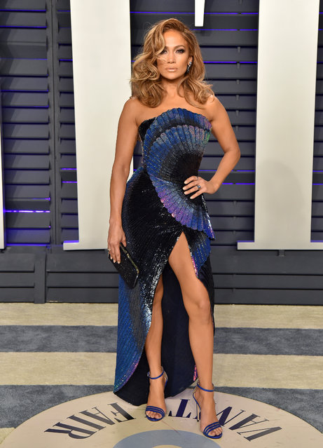 Jennifer Lopez attends the 2019 Vanity Fair Oscar Party Hosted By Radhika Jones at Wallis Annenberg Center for the Performing Arts on February 24, 2019 in Beverly Hills, California. (Photo by Axelle/Bauer-Griffin/FilmMagic)