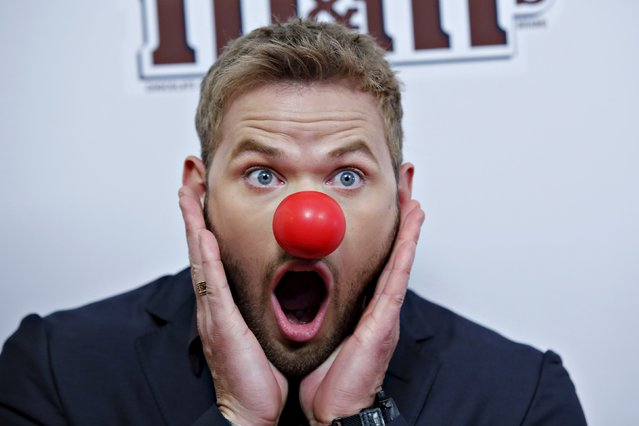 Actor Kellan Lutz attends the Red Nose Charity event in New York May 21, 2015. (Photo by Eduardo Munoz/Reuters)
