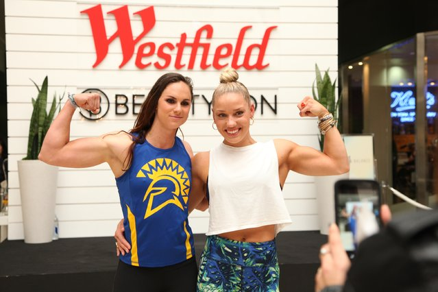 Fitness expert Kaisa Keranan poses for a photo with fans during Beauty & Balance at Westfield Valley Fair on March 4, 2017 in Santa Clara, California. (Photo by Kelly Sullivan/Getty Images for Westfield)