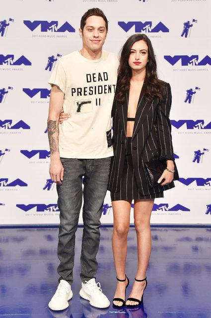 Pete Davidson (L) and Cazzie David attend the 2017 MTV Video Music Awards at The Forum on August 27, 2017 in Inglewood, California. (Photo by Frazer Harrison/Getty Images)