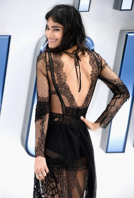 """Sofia Boutella arrives for the UK premiere of """"Star Trek Beyond"""" at Empire Leicester Square on July 12, 2016 in London, UK. (Photo by Ian Gavan/Getty Images)"""