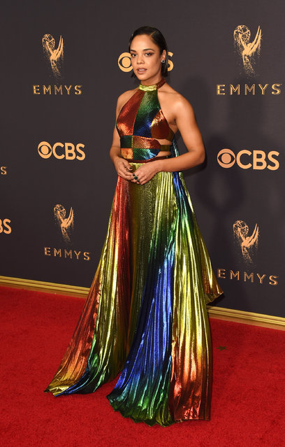 Actor Tessa Thompson attends the 69th Annual Primetime Emmy Awards at Microsoft Theater on September 17, 2017 in Los Angeles, California. (Photo by J. Merritt/Getty Images)