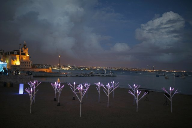 An installation of French artist Bulb is displayed during the Lumina Light Festival in Cascais September 14, 2014. (Photo by Rafael Marchante/Reuters)
