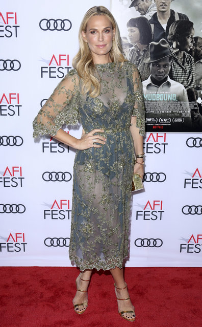 "Molly Sims arrives at the Premiere of ""Mudbound"" at the 2017 AFI Fest Opening Night on Thursday, November 9, 2017, in Los Angeles. (Photo by Willy Sanjuan/Invision/AP Photo)"