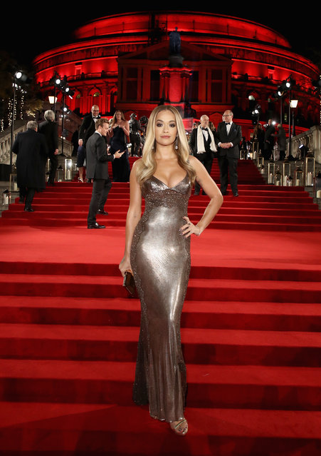 English singer and actor Rita Ora attends The Fashion Awards 2017 in partnership with Swarovski at Royal Albert Hall on December 4, 2017 in London, England. (Photo by Mike Marsland/Getty Images for BFC)