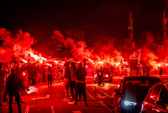 Feyenoord fans and supporters celebrate the 110. birthday of Feyenoord Rotterdam, Rotterdam, Netherlands on July 19, 2018. (Photo by Utrecht Robin/Action Press/Rex Features/Shutterstock)